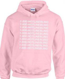 1-800-HOTLINEBLING Pink Hoodie