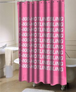 1-800-Hotline Bling drake  shower curtain customized design for home decor