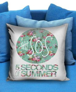 5SOS 5 Seconds of Summer Logo Floral Pillow case