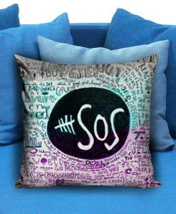 5 Second Of Summers Lyric Quotes Pillow case