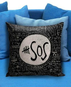 5 Seconds Of Summer Collage Quote Pillow Case