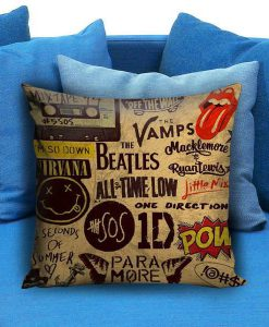 5sos one direction pow quote Square Pillow Case