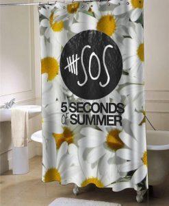 5sos sun flower shower curtain customized design for home decor