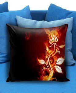 Abstract Fire Flower Pillow case