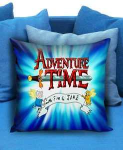 Adventure Time and Bacon Pancakes Pillow Case