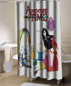 Adventure time shower curtain customized design for home decor