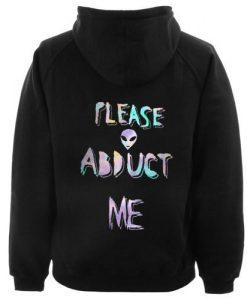 Alien Abduct Hoodie Back