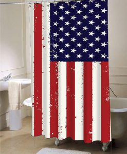 American Flag  shower curtain customized design for home decor