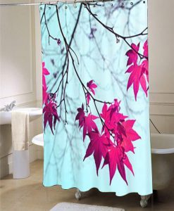 Aqua shower curtain customized design for home decor