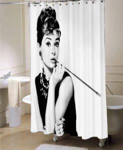 Audrey Hepburn ihomegift shower curtain customized design for home decor
