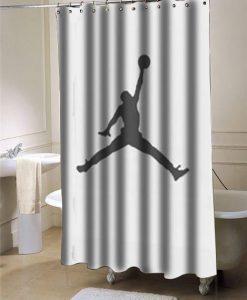 Basketball air jordan jumpman  shower curtain customized design for home decor