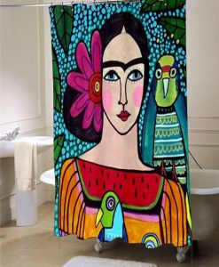 Frida Kahlo  shower curtain customized design for home decor