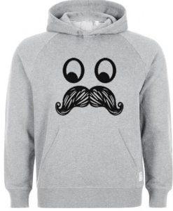 Mustache Hoodie Cotton Heavyweight Hoodie