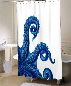 Octopus Tentacles Blue  shower curtain customized design for home decor