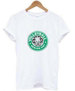 Served hot starbucks tshirt