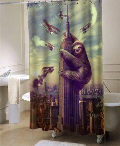Slothzilla shower curtain customized design for home decor