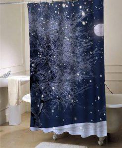 Sparkle snow shower curtain customized design for home decor
