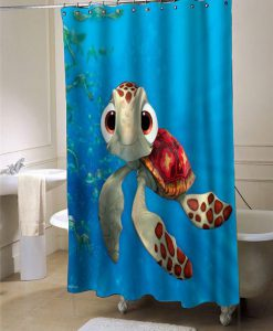 Squirt FindingNemo shower curtain customized design for home decor