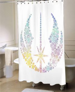 Star Wars Inspired Brightly Colored Jedi Flowers  shower curtain customized design for home decor
