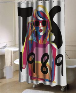 Taylor swift 1989 shower curtain customized design for home decor