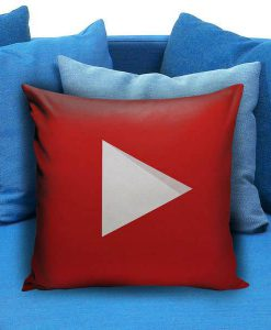 YouTube icon full color Pillow case