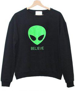 alien belive sweatshirt
