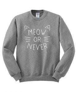 meeow or never  sweatshirt