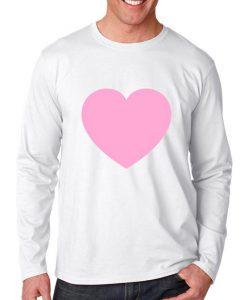 pink love heart longsleeve