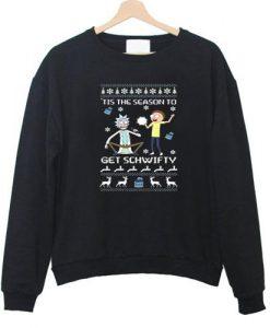 rick and morty christmas Sweatshirt