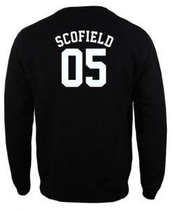scofield 05 jersey sweatshirt back