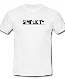 simplicity tshirt