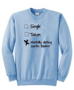 single taken sweatshirt