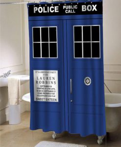 tardis dr who shower curtain customized design for home decor