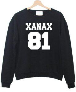 xanax 81 front sweatshirt