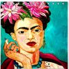 2019 Home Decor Eco Friendly Personalized Fashion Frida Kahlo Waterproof Mildew Resistant Polyester Fabric Bath Shower Curtain KM