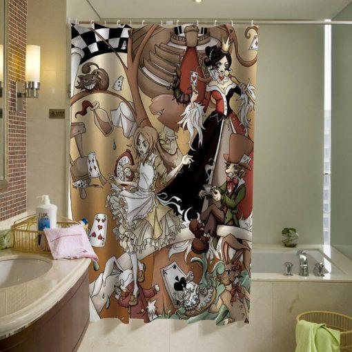 Alice In Wonderland Shower Curtain KM