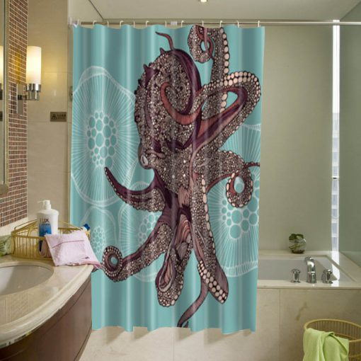 Amazing Octopus Shower Curtain KM