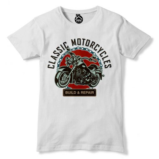 Classic Motorcycle T Shirt (KM)