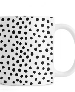 Dots Black And White Mug KM
