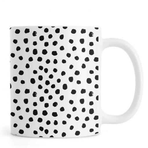 Dots Black And White Mug KM