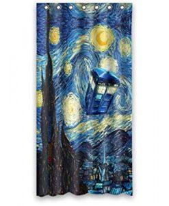 Tardis Doctor Who Starry Night Shower Curtain KM