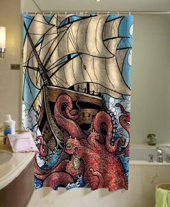 The Octopus Attack Shower Curtain KM