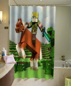 The legend of Zelda Brick Game Shower Curtain KM
