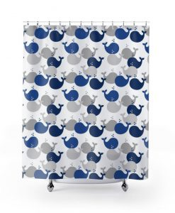 WHALE SHOWER CURTAIN KM