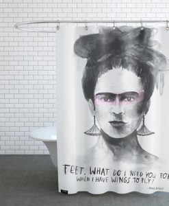 Wings Frida Kahlo Shower Curtain KM