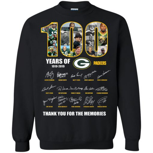 100 Years Of Green Packers -1919-2019 Sweatshirt KM