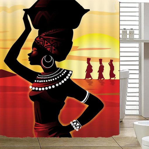 African Girl Shower Curtain KM