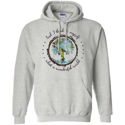 And I Think To Myself What a Wonderful World Colorful Tree White Hoodie KM