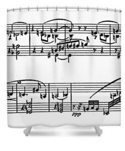 Arnold Schoenberg Shower Curtain KM