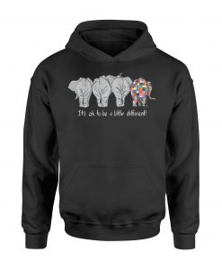 Autism Elephant it's ok to be a little different Hoodie KM